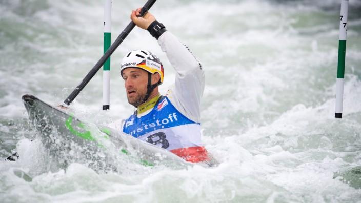 Kanuslalom Markkleeberg 01 07 2017 Weltcup Kanu Slalom Kajak K1 Herren Männer Kayak Halbfinale Alexa