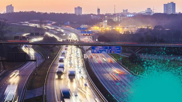 Germany Baden Wuerttemberg Autobahn A8 near Stuttgart at twilight PUBLICATIONxINxGERxSUIxAUTxHUNxO