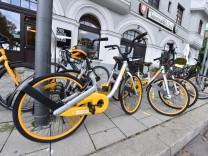 Obike-Leihfahrräder in München, 2017
