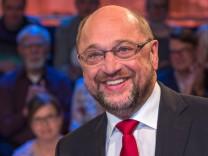 Kanzlerkandidat Schulz in Wahlarena