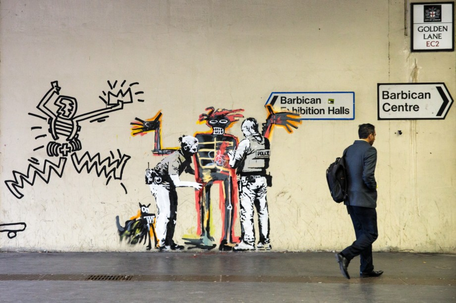 Two New Murals By The Street Artist Banksy Appear At The Barbican Centre