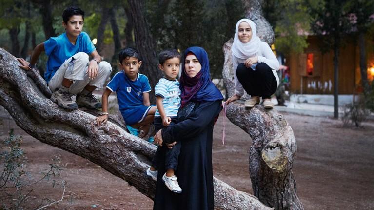 Flüchtlinge in Deutschland Geflüchtete Familie aus Syrien