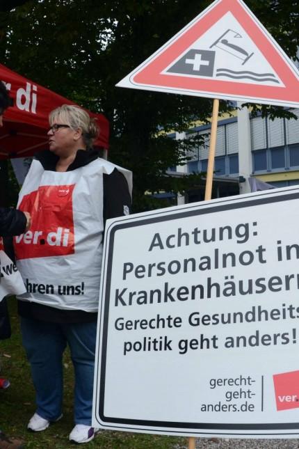 Dachau Proteste am Krankenhaus