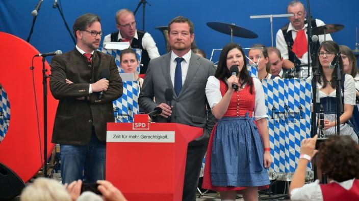 Gillamoos 2017: Martin Schulz spricht im Jungbraeuzelt