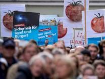 Bundeskanzlerin Merkel - Wahlkampf in Regensburg