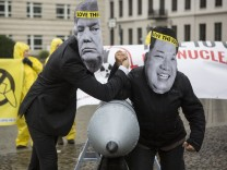 Activists Protests Against North Korea Tensions