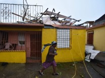 Aftermaths after hurricane Maria hit the Caribbean islands