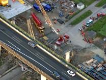 Eingestürzter Brückenneubau Schraudenbach
