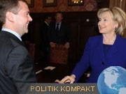Medwedew, Clinton, dpa