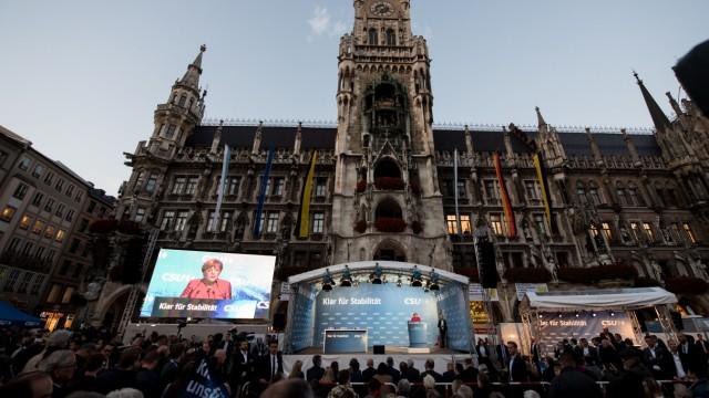 Wahlkampf CSU/CDU