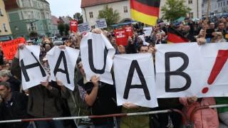 Merkel Campaigns In Finsterwalde