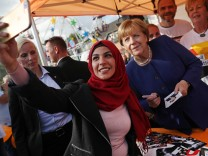BESTPIX - Merkel Visits Local Fest In Stralsund