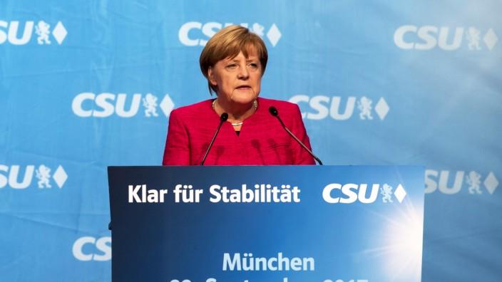 Wahlkampf CSU/CDU; Kandidaten Bundestagswahl Merkel München
