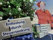 weihnachtswünsche auf dem CDU-Parteitag / reuters