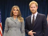 Prinz Harry trifft Melania Trump