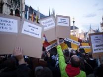 22 9 2017 Bundestagswahlkampf in München Wahlkampfabschluss der CDU und CSU am Marienplatz Ange