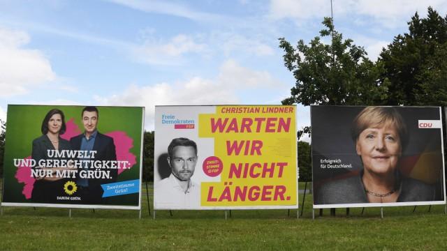 PolitiK Bundestagswahl 2017 Wahlplakate Die Gr¸nen Katrin GËÜring Eckardt ÷zdemir Cem FDP Chri