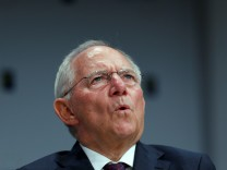 FILE PHOTO: German Finance Minister Schaeuble addresses European Banking Congress in Frankfurt