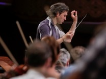 Vladimir Jurowski, principal conductor of the London Philharmonic Orchestra and the George Enescu festival's new artistic director conducts a reherasal of 'Oedipe\