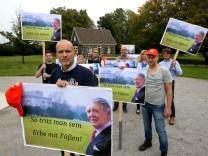 Mahnwache von ThyssenKrupp-Mitarbeitern
