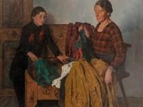 Constantin Gerhardinger Mutter und Tochter mit Kleidertruhe 1938 Inv