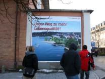 Werbung für die Seeanbindung