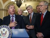 Lindsey Graham, Sen. Roy Blunt, John Cornyn, Bill Cassidy, John Thune, Mitch McConnell