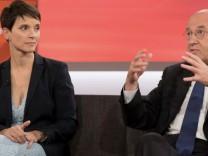 Maischberger, ARD, Frauke Petry (vormals AfD) und Gregor Gysi (Linke)