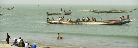 Traditional coastal fishing boats Tanji village Gambia PUBLICATIONxINxGERxSUIxAUTxONLY 1095720 Mik