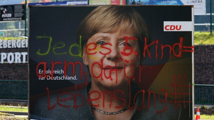 Anti-immigration party Alternative fuer Deutschland AfD success in Eastern Germany at federal election