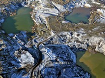 Mondlandschaft im Tagebau