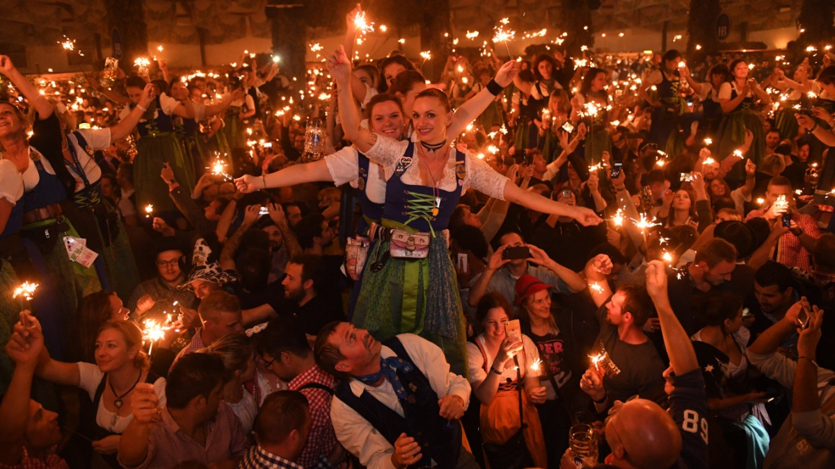 Hofbräu-Festzelt auf dem Oktoberfest