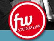 Erinnert Internet-User zu stark an Joghurt-Reklame: Das offizielle Frank-Walter Steinmeier Logo. Screenshot: sde