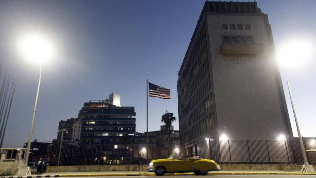 A general view of the US Embassy in Havana Cuba 12 January 2017 The Cuban Government compromised