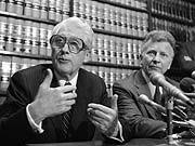 Deep Throat Mark Felt (links) mit seinem FBI-Kollegen Edward S. Miller