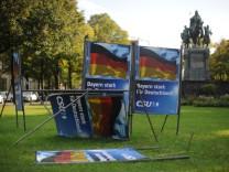 Zerstörte Wahlplakate in München, 2017