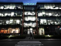MOSCOW RUSSIA OCTOBER 2 2017 The headquarters of the Russian cybersecurity company Kaspersky La