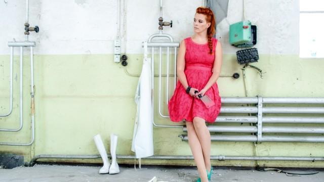 "Evelyn Hribersek mit ihrem ""O.R.pheus"" Projekt, 2013"