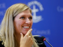 Beatrice Fihn, Executive Director of the International Campaign to Abolish Nuclear Weapons (ICAN), attends a news conference after ICAN won the Nobel Peace Prize 2017, in Geneva