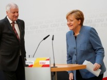 Christian Democratic Union Chancellor Merkel and Christian Social Union Bavaria State Premier Seehofer news conference in Berlin