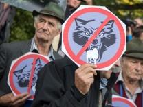 Demonstration 'Weidetiere statt Wolfsreviere'