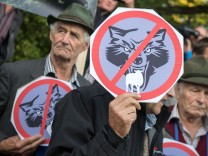 Demonstration 'Weidetiere statt Wolfsreviere'