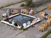 Obersendling (Sand+Pool) Umnutzung von öffentlichem Raum