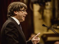Parlamentsauftritt des katalanischen Regierungschefs