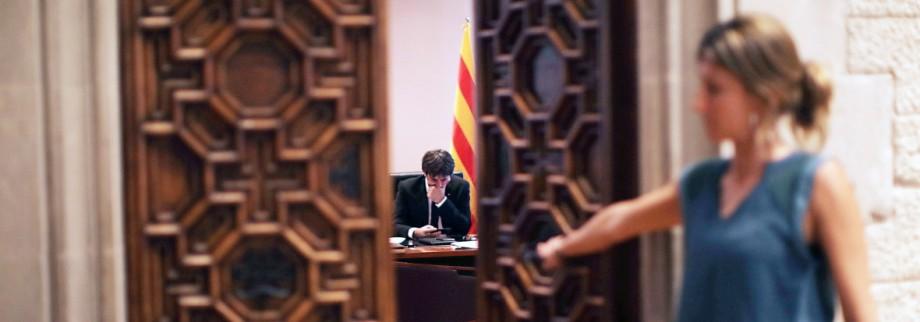 Vor Parlamentsauftritt des katalanischen Regierungschefs
