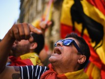 Pro-Unity Rally Held In Barcelona Against Catalonian Independence