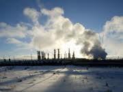 Gasfeld in Sibirien, ddp