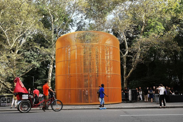 Preview Held For Chinese Artist Ai Weiwei's Multi-Site Art Installation In New York City