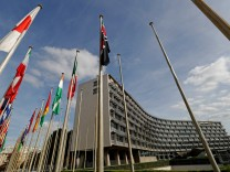A general view shows the headquarters of the United Nations Educational, Scientific and Cultural Organization (UNESCO) in Paris