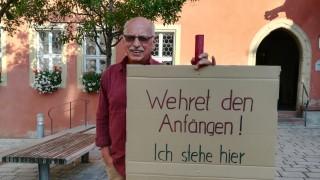 Politik in Bayern Protest in Ochsenfurt